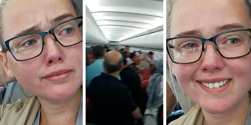 Afganistanlı Göçmene Uçakta İsveçli Öğrenciden Destek
