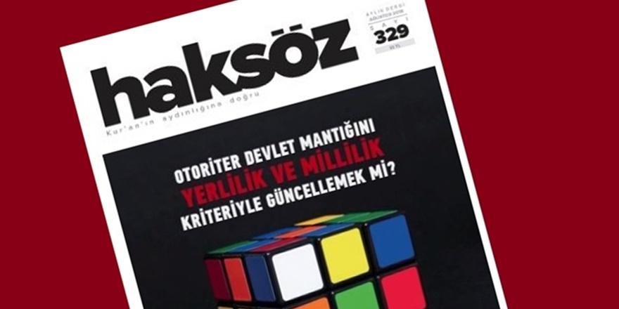 Haksöz Dergisinin Ağustos 2018 Sayısı Çıktı