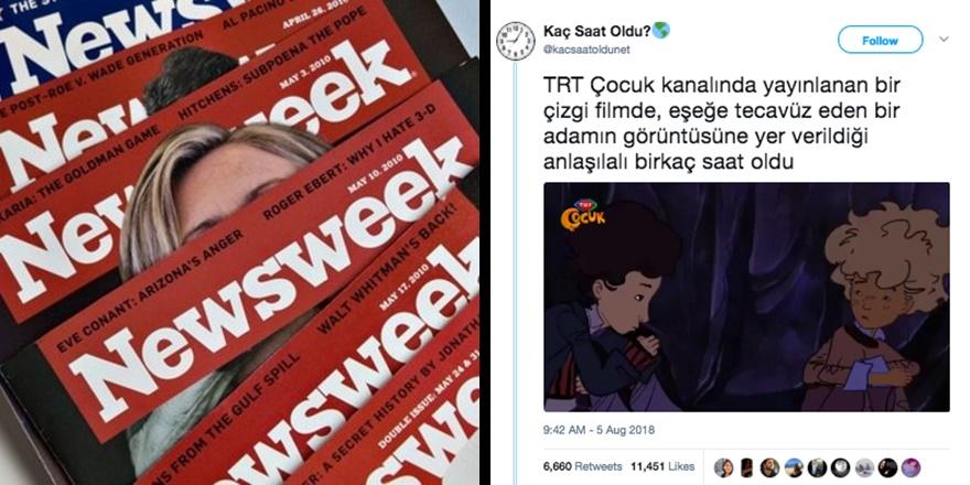 """Eşcinsel Lobisi TRT'ye, Newsweek Türkiye'ye Karşı"""