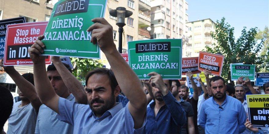 İdlib'e Yönelik İşgal Girişimi Diyarbakır'da Protesto Edildi