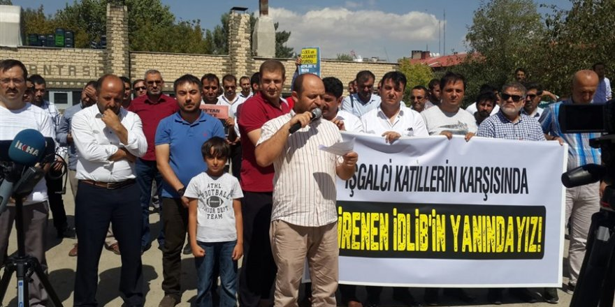 İdlib'e Yönelik İşgal Girişimi Muş'ta Protesto Edildi