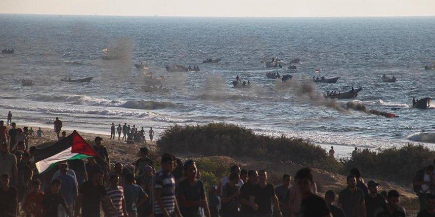 İşgalci İsrail Gazzeli Aktivistlere Saldırdı