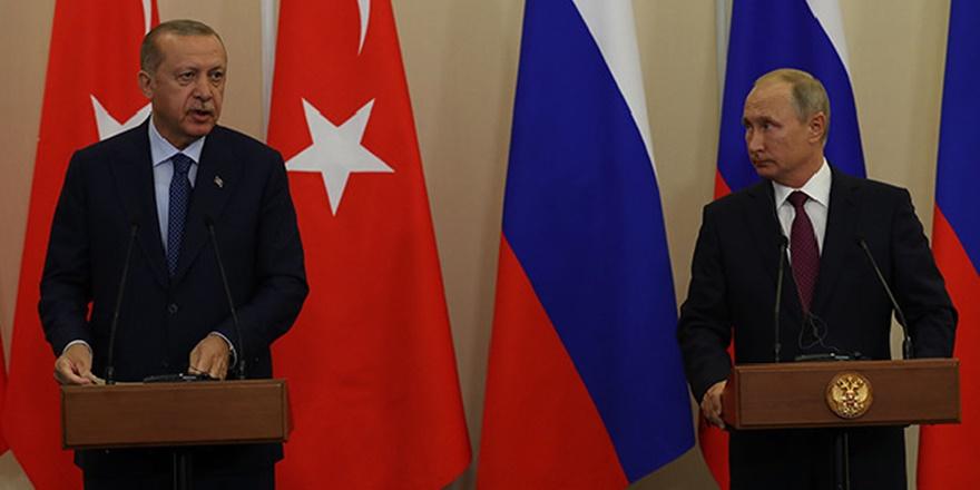 Cumhurbaşkanı Erdoğan, Putin ile İdlib'i Görüştü