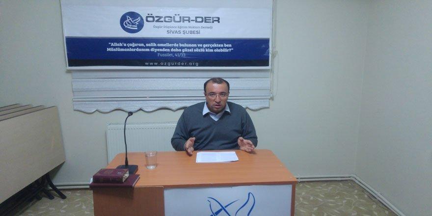 """Sivas Özgür-Der'de """"Cemaatten STK'laşmaya mı?"""" Konusu Konuşuldu"""