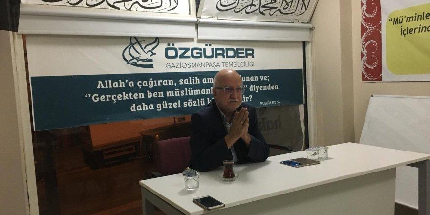 """Gaziosmanpaşa Özgür-Der'de """"Yerlilik ve Millilik"""" Konuşuldu"""