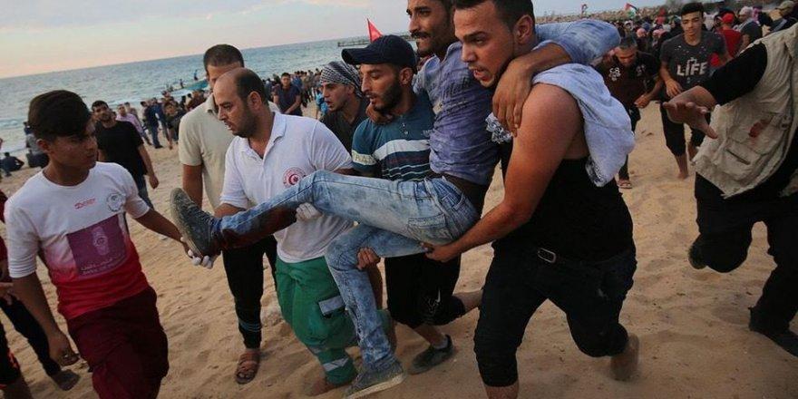 Gazze Şeridi'nin Kuzeyinde Yapılan Deniz Mitinginde 24 Kişi Yaralandı