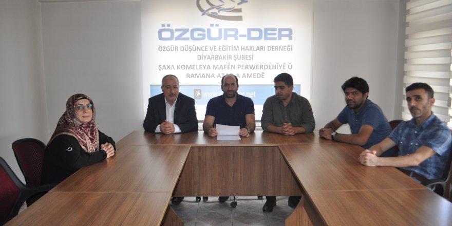 Diyarbakır Özgür-Der: Irkçı Kemalist Dayatmalara İtiraz Ediyoruz!