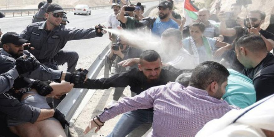 İsrail'den Han El-Ahmer Protestosuna Sert Müdahale