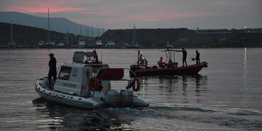 Bodrum Açıklarında  Göçmenleri Taşıyan Tekne Battı