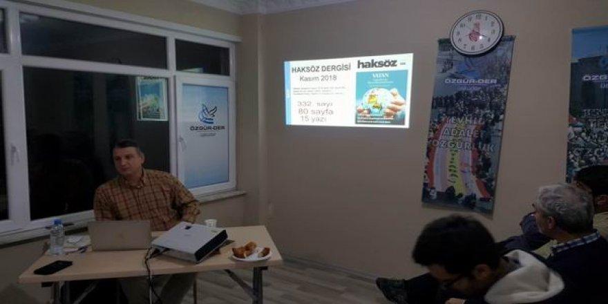 Özgür-Der Üsküdar'da Haksöz Dergisi Kasım Sayısı Konuşuldu
