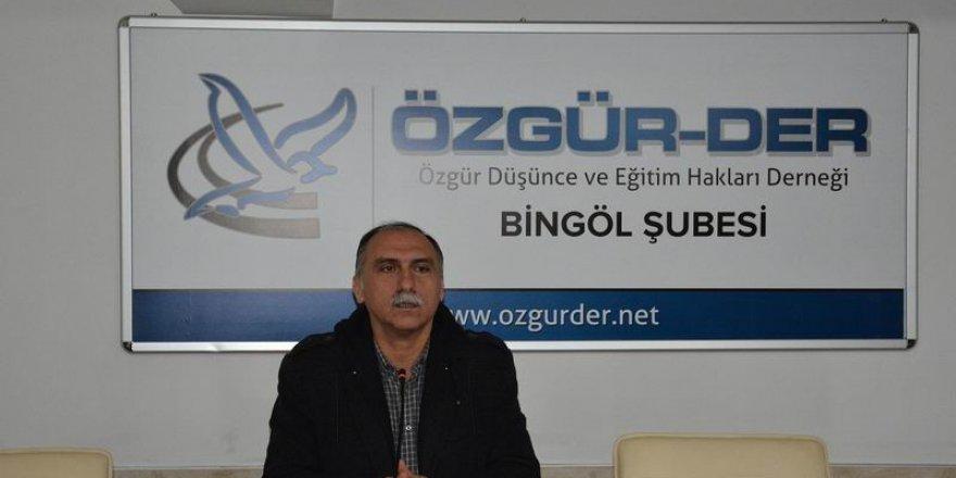 """Bingöl Özgür-Der'de """"Şehirler ve Medeniyet"""" Semineri"""