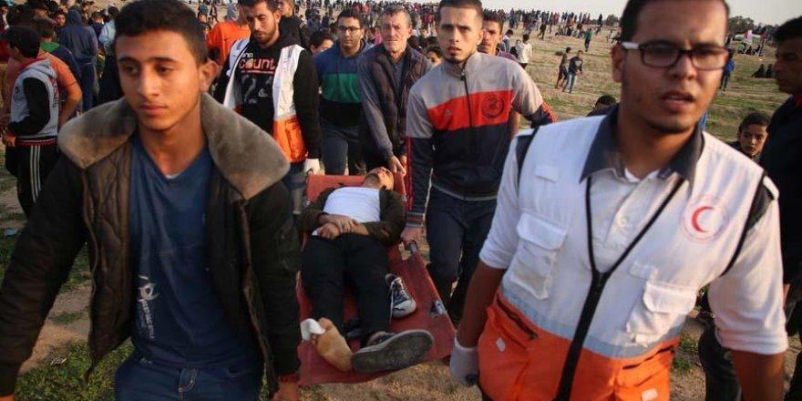 İşgal Güçleri Gazze Sınırında 28 Filistinliyi Yaraladı