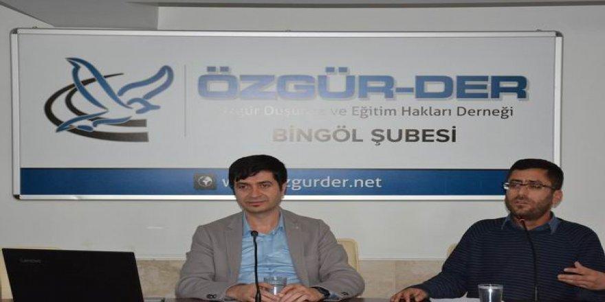 """Bingöl Özgür-Der'de """"Ailede İletişim"""" Semineri"""