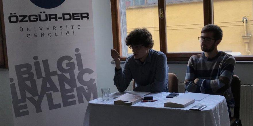 """Özgür-Der Üniversite Gençliği """"Türk'e Tapmak"""" Kitabını Değerlendirdi"""