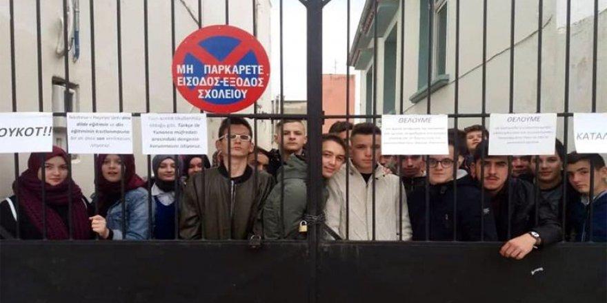Gümülcine Medrese-i Hayriye Okulu Öğrencilerinden Yunan Hükümetine Boykot