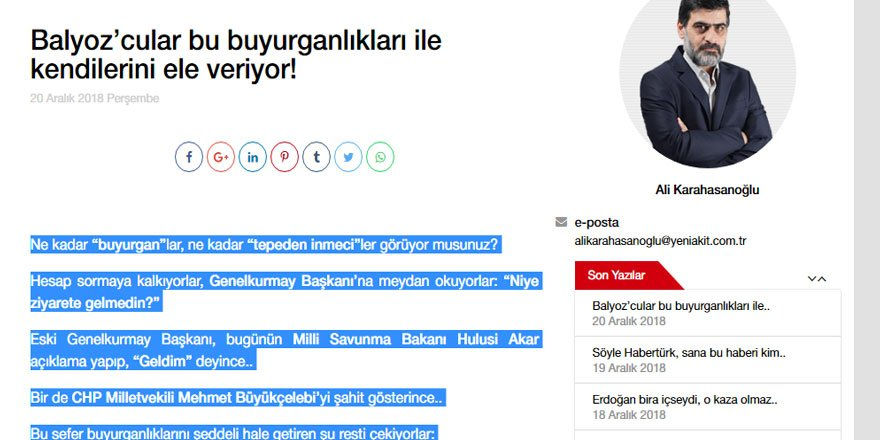 Balyozcu Kafayı Tekebbürü Ele Veriyor!