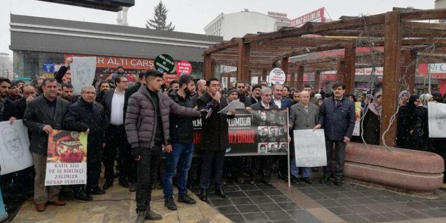 Sisi Cuntasının 9 Genci İdam Etmesi Van'da Protesto Edildi