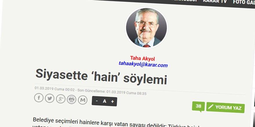 Seçim Arifesinde AK Parti ve 'Hain' Söyleminin Tutarlılığı