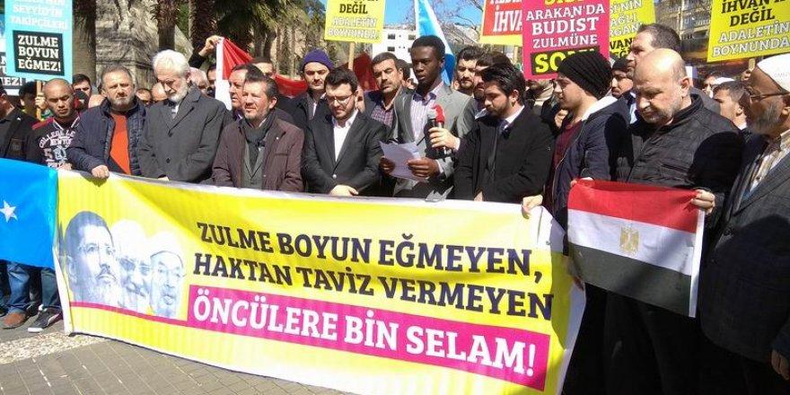 Kahramanmaraş'da Sisi Diktası ve Zulümler Telin Edildi