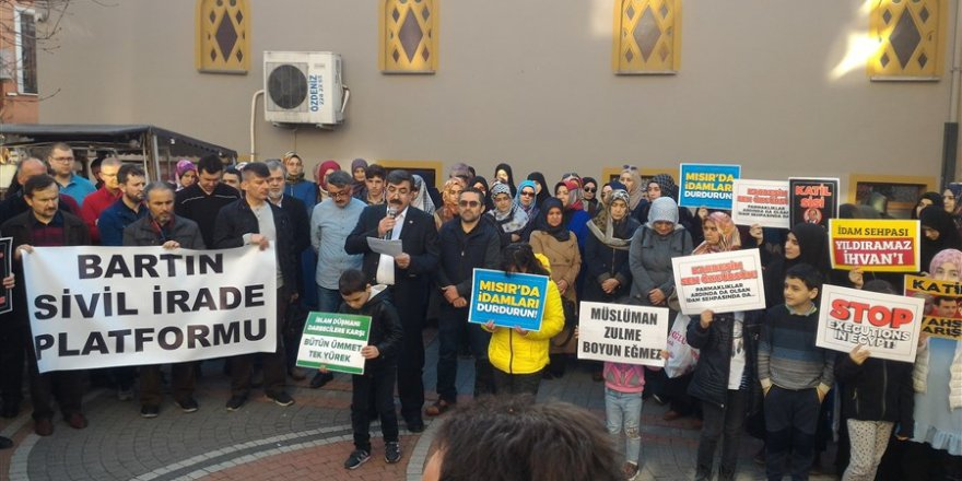 Bartın'da Mısır'daki İdamları Durdurun Eylemi!