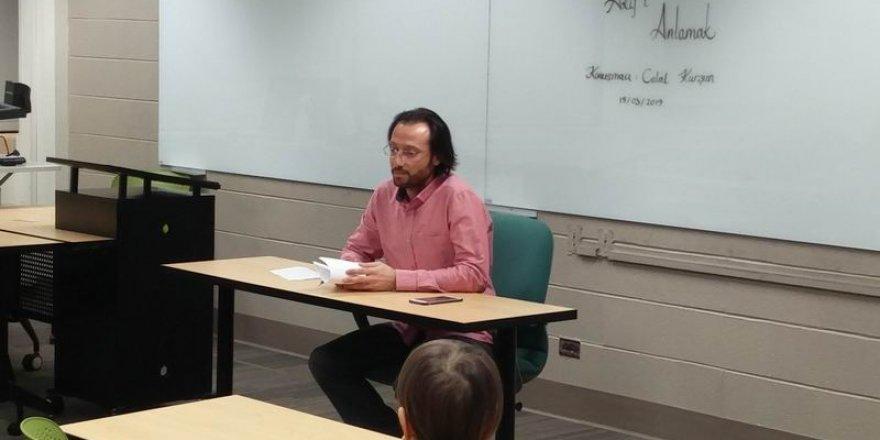 Akif, Wisconsin-Madison Üniversitesi'nde Konuşuldu