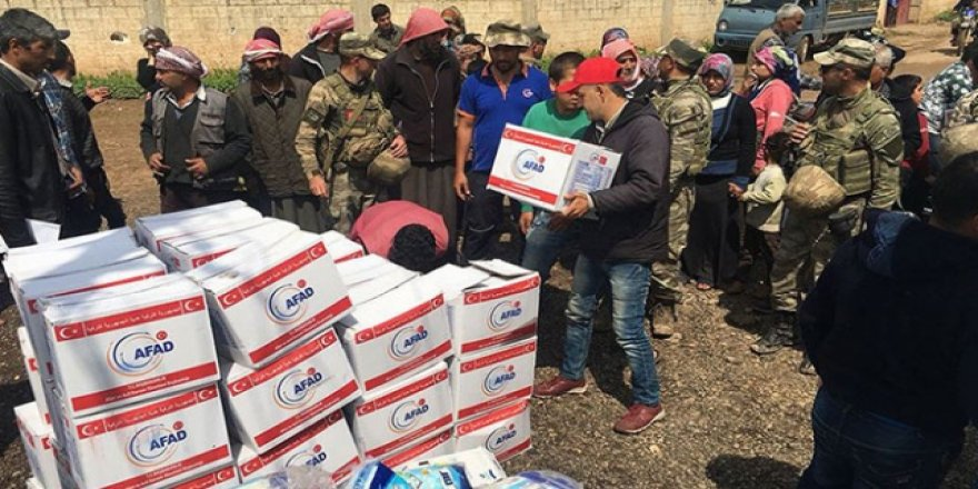 Afrin'de 362 Noktaya İnsani Yardım Ulaştırıldı