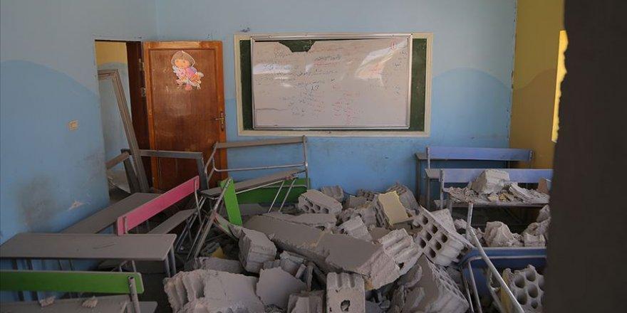 Katil Esed ve İşbirlikçisi İran İdlib'de Okul Vurdu