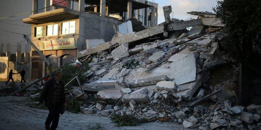 Gazze Şeridi'nde Onlarca Kişi Evsiz Kaldı