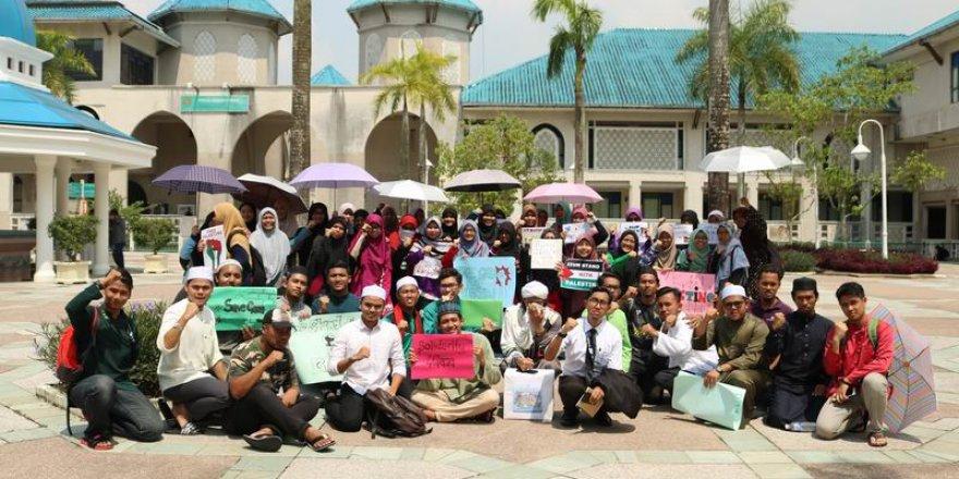 Malezya'lı Öğrencilerden Ümmet İle Dayanışma Eylemi