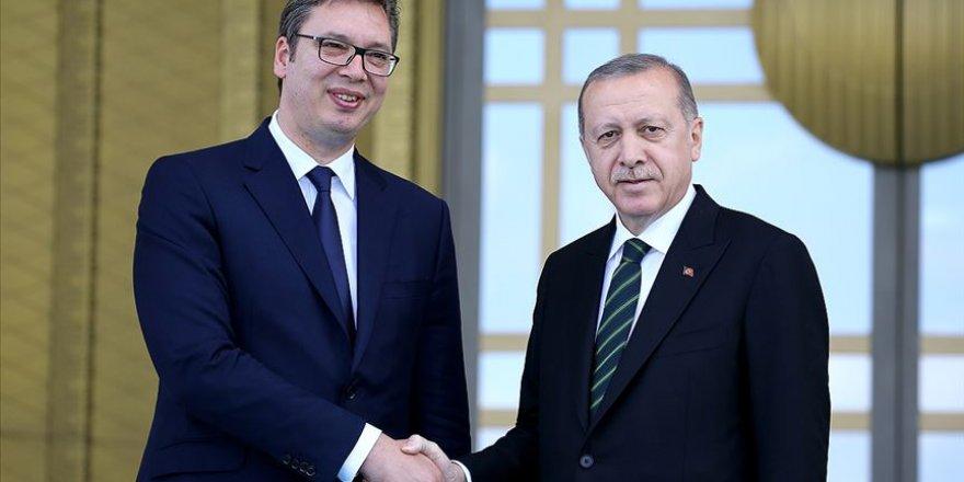 Sırbistan Cumhurbaşkanı Vucic'ten Cumhurbaşkanı Erdoğan'a Tebrik