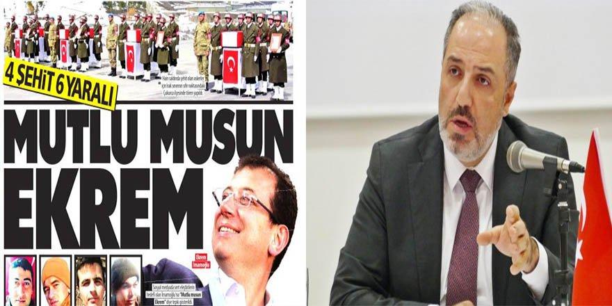 """AK Partili Yeneroğlu'ndan Güneş Gazetesine Kınama: """"Bu Gazetecilik Değildir"""""""