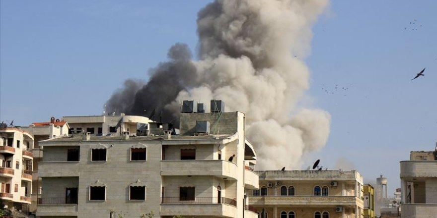 İdlib'e Kara ve Hava Saldırıları Sürüyor