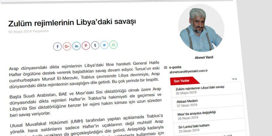 Libya'da Para İçin Savaşanlar ile Hak İçin Savaşanlar