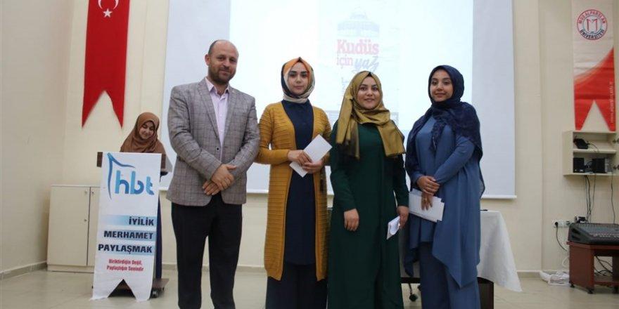 'Kudüs İçin Yaz' Şiir Yarışmasının Ödül Töreni Düzenlendi