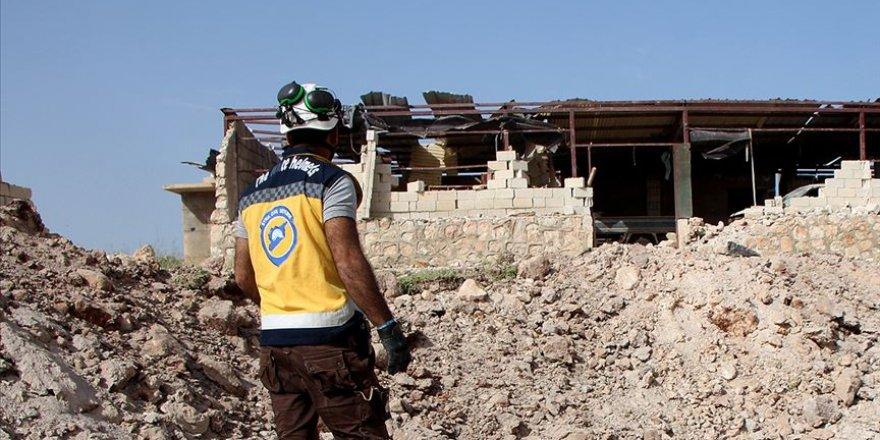 İdlib'de Beyaz Baretliler'e Hava Saldırısı