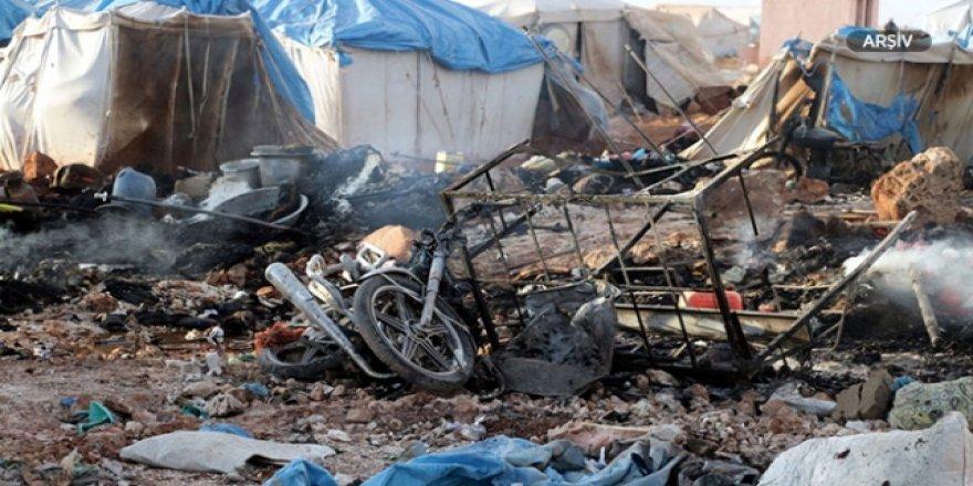 Halep'te Mülteci Kampına Roketli Saldırı