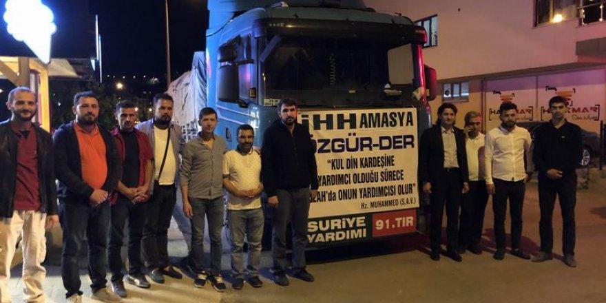Amasya'dan Suriye'ye 1 Tır Ramazan Yardımı