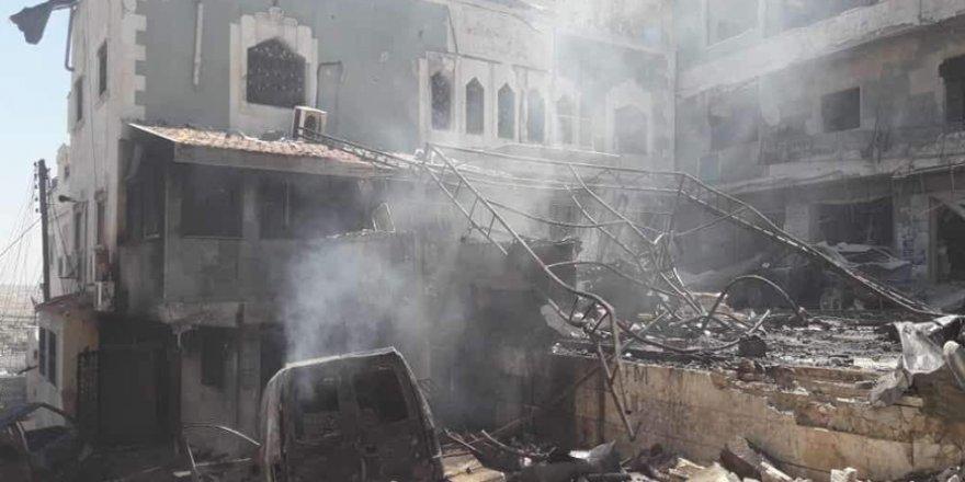 İşgalci Rusya İdlib'de Hastaneleri Vurmayı Sürdürüyor