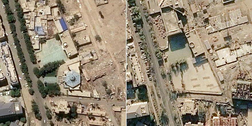 Doğu Türkistan'da Çin'in Yıktığı Camiler Uydu Görüntülerinde