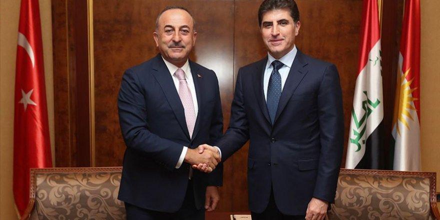 Çavuşoğlu Erbil'de IKBY'nin Yeni Başkanı Neçirvan Barzani ile Görüştü