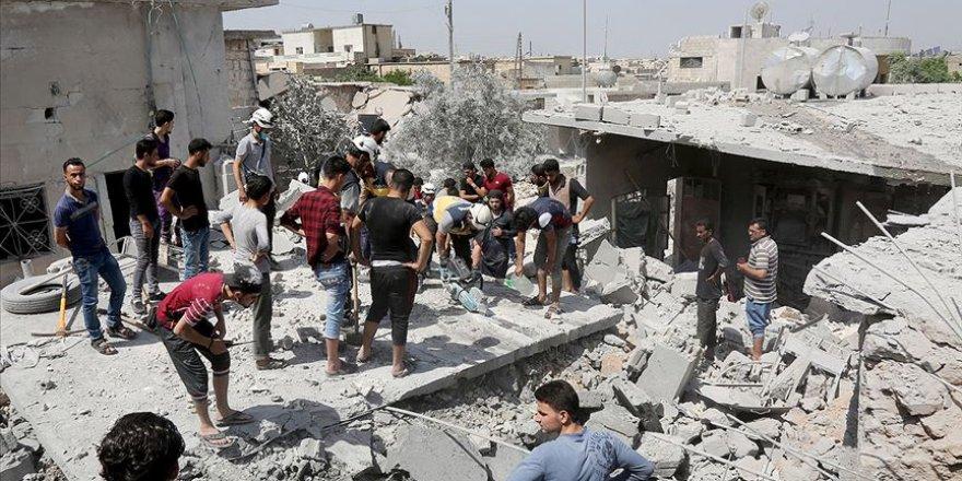 Rusya ve Esed İdlib'e Alçakça Saldırmaya Devam Ediyor