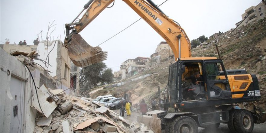 İşgalci İsrail'in Batı Şeria ve Doğu Kudüs'teki Yıkımları Devam Ediyor
