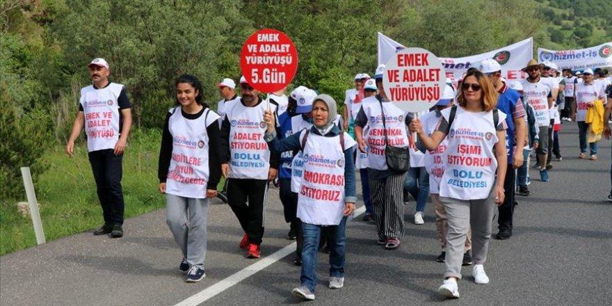 'Emek ve Adalet Yürüyüşü' Beşinci Gününde