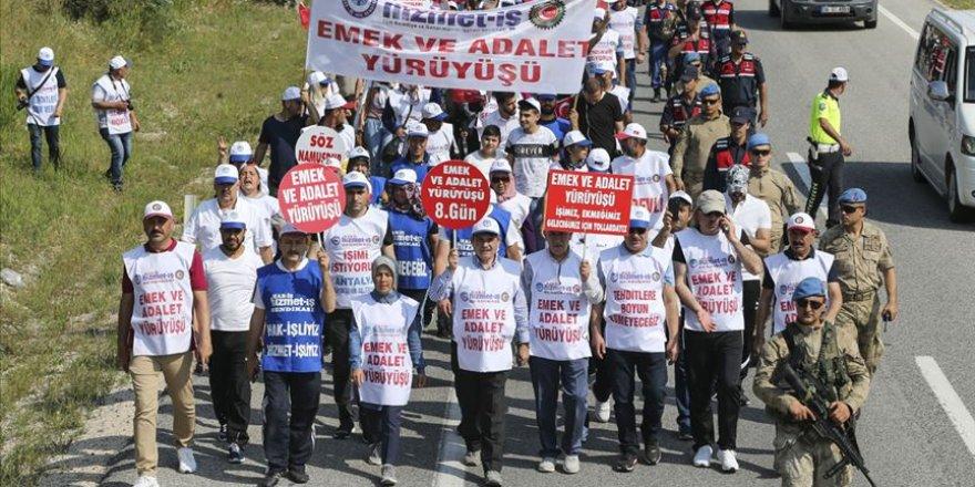 'Emek ve Adalet Yürüyüşü' Sekizinci Gününde