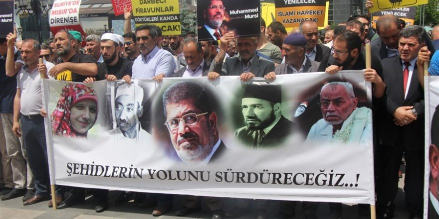 Erzurum'da Muhammed Mursi İçin Gıyabi Cenaze Namazı ve Basın Açıklaması
