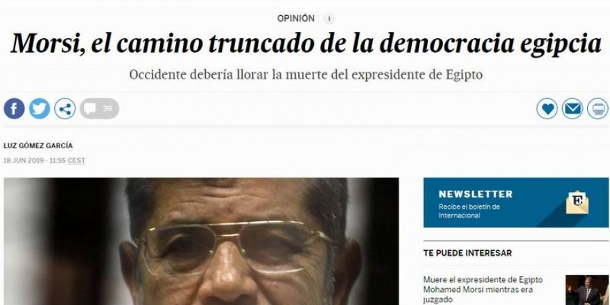 El Pais'den Batı'ya Mursi Eleştirisi