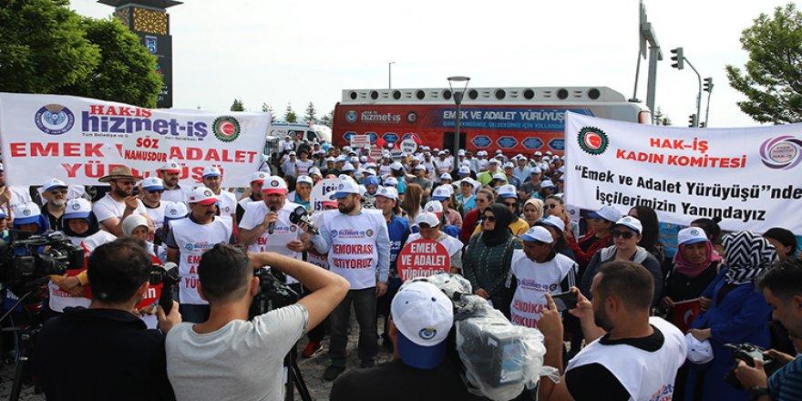 'Emek ve Adalet Yürüyüşü' Dokuzuncu Gününde