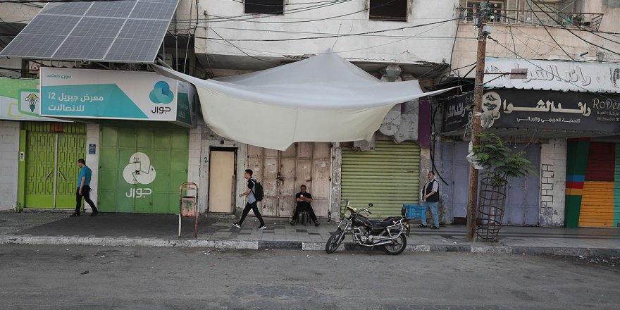 Gazze'de Bahreyn Çalıştayı'nı Protesto İçin Genel Greve Gidildi