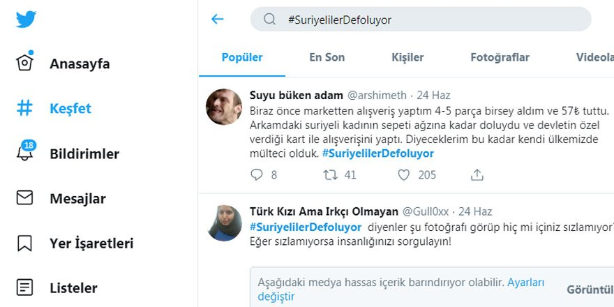 Farklı Bir Açıdan #SuriyelilerDefoluyor Hashtagı Üzerine