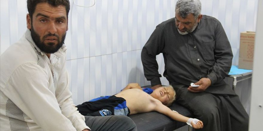 İdlib'e Saldıran Katil Esed Rejimi Üç Çocuk ve Bir kadını Katletti!